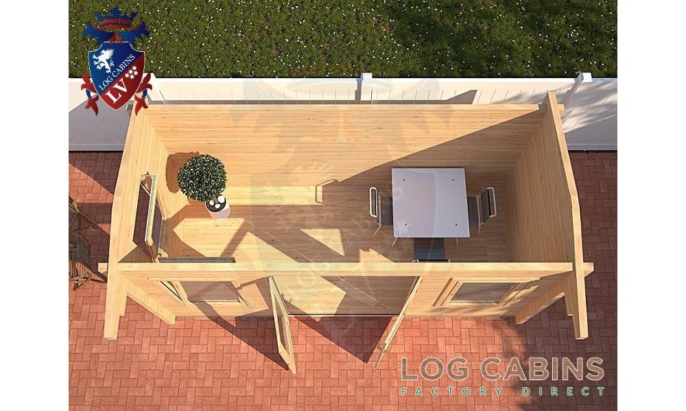 Norwich Log Cabin Plan View