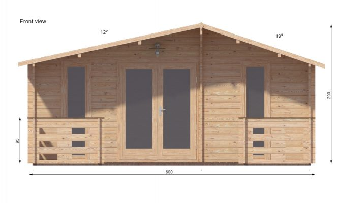Padova B Log Cabin Front Elevation