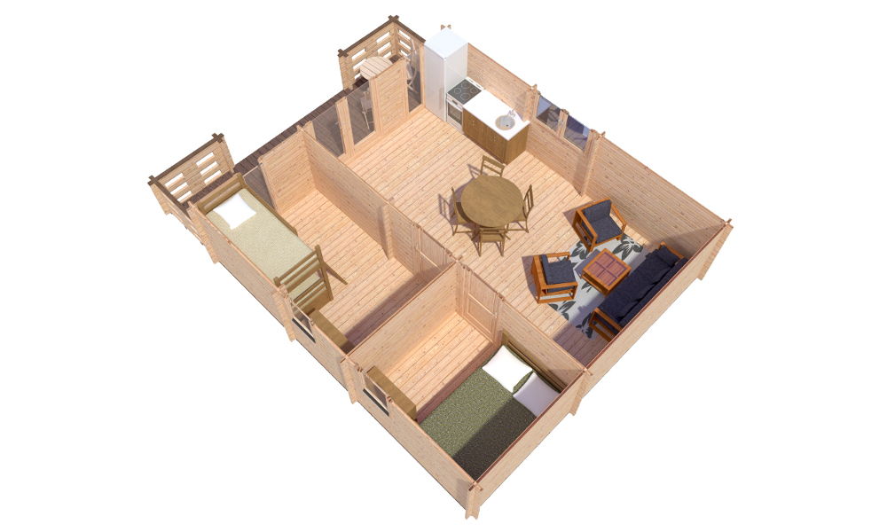 Padova B Log Cabin Plan View