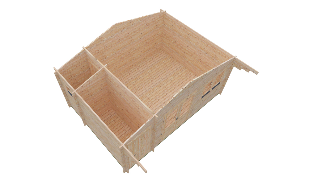 Roberto Log Cabin Isometric Render