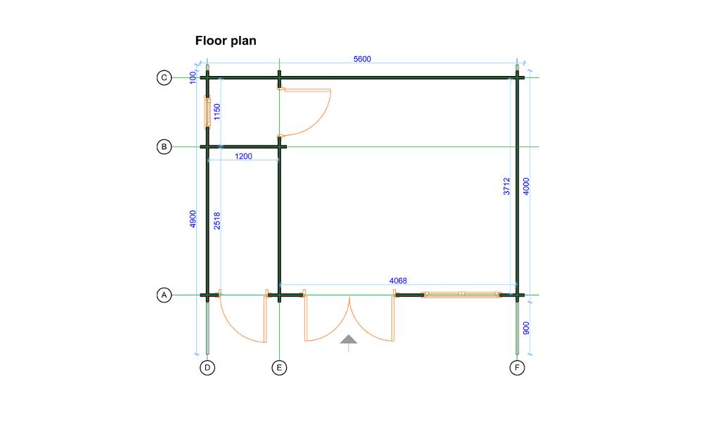 Roberto Log Cabin Floor Plan