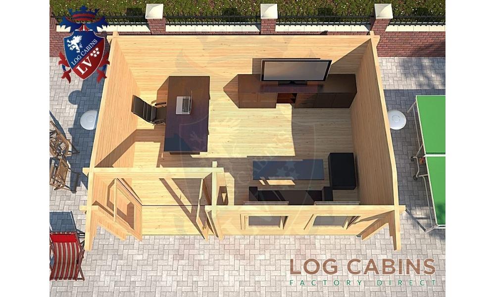 Shrewsbury Log Cabin Floor Plan
