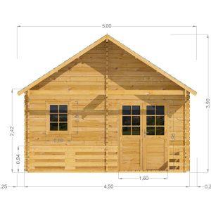 Torino Log Cabin Front Elevation