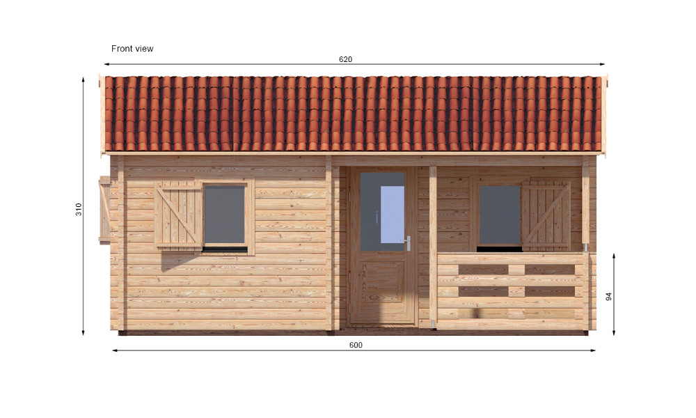 Veronica Log Cabin Front Elevation