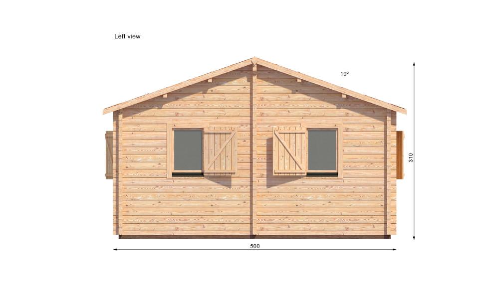 Veronica Log Cabin Left Elevation