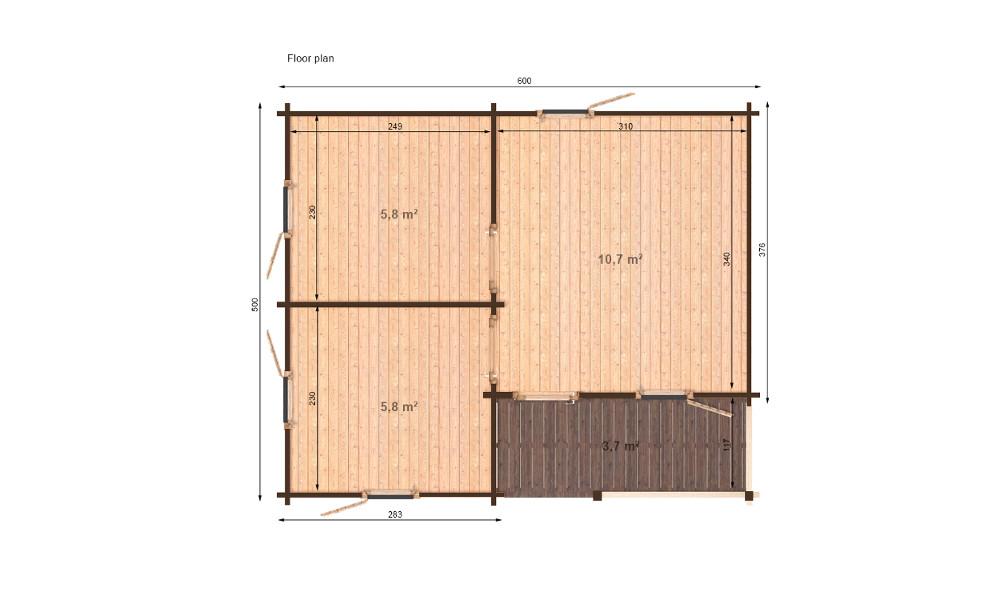 Veronica Log Cabin Floor Plan