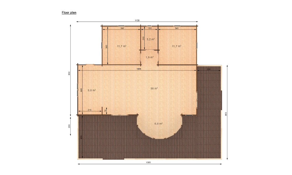 Vienna Log Cabin Plan