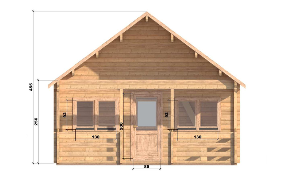 Max Log Cabin Front Elevation