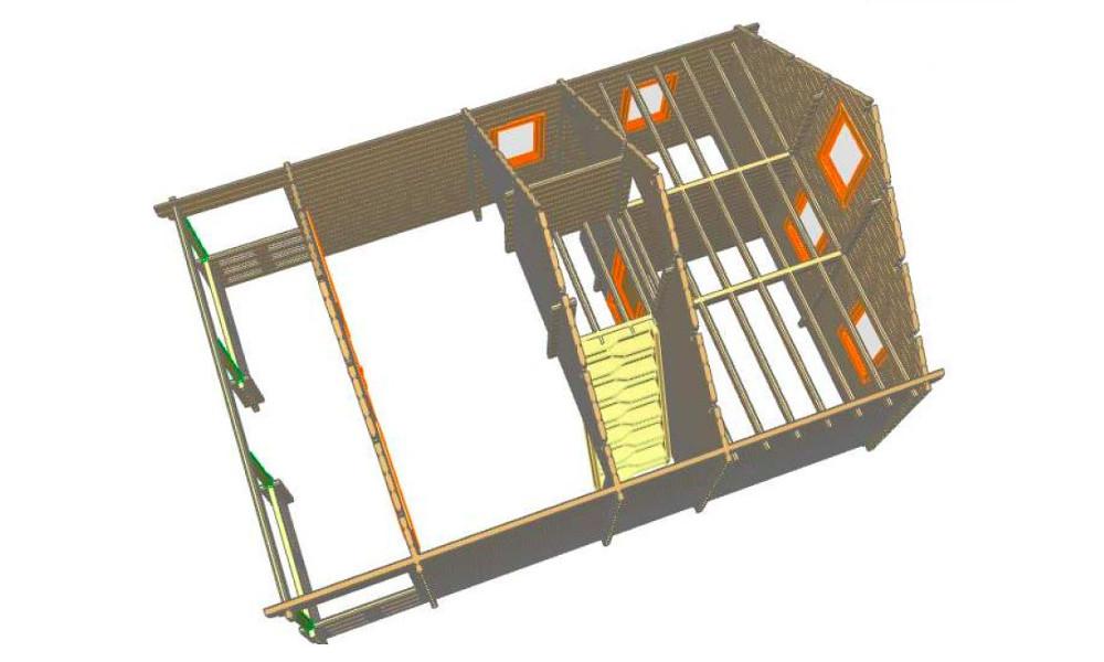 Max Log Cabin Isometric View
