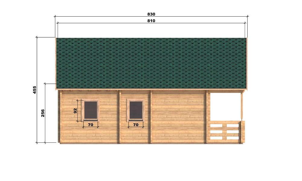 Max Log Cabin Left Elevation