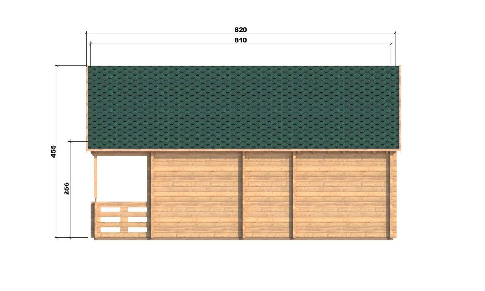 Max Log Cabin Right Elevation