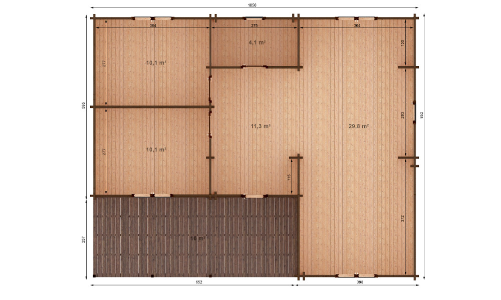 Jennifer Log Cabin Plan View