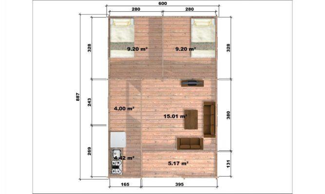 Almeria Log Cabin Floor Plan
