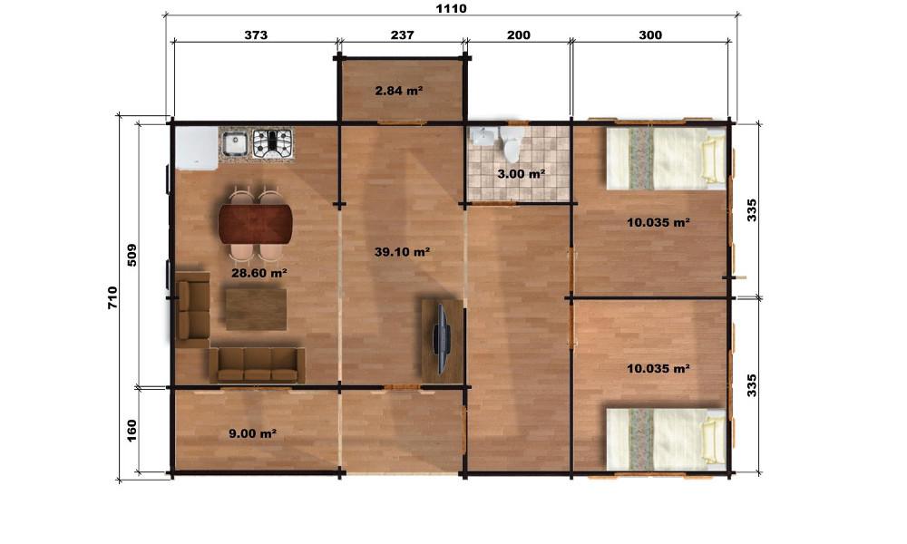Markus Cabin Floor Plan