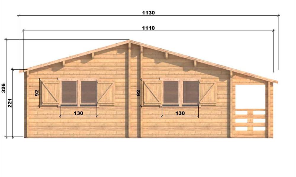 Markus Log Cabin Right Elevation