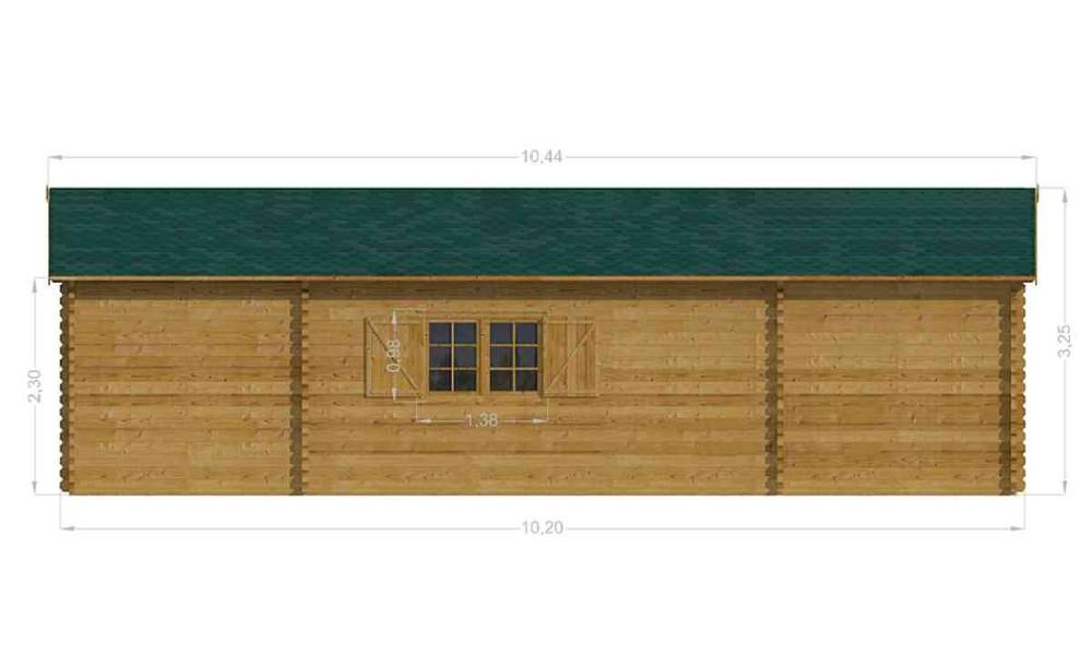 Scarlett Log Cabin Rear Elevation