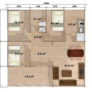 Wendy Log Cabin Floor Plan