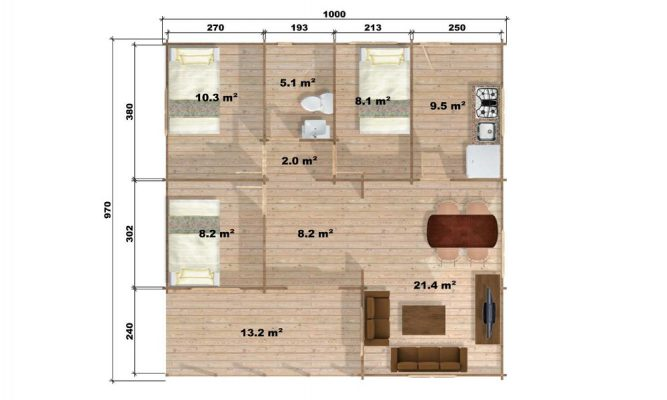 Wendy Log Cabin Floor Plan