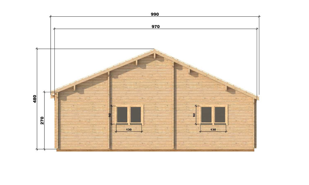 Wendy Log Cabin Right Elevation